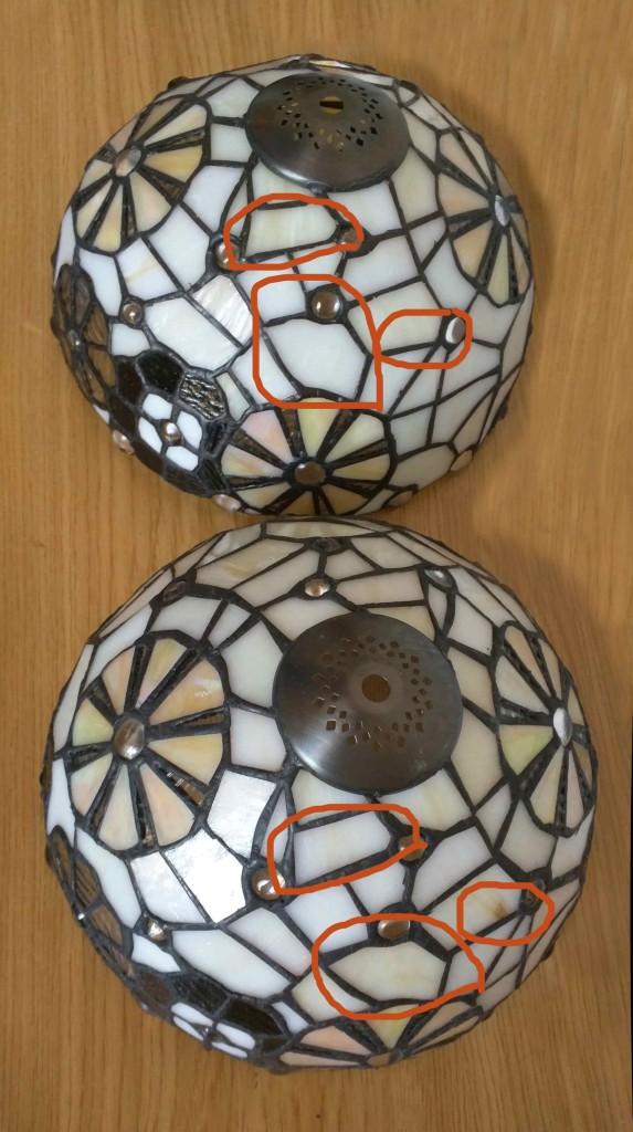 differenza lampade tiffany - vetri opalescenti