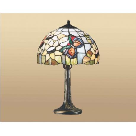 lampada da tavolo tiffany con farfalla