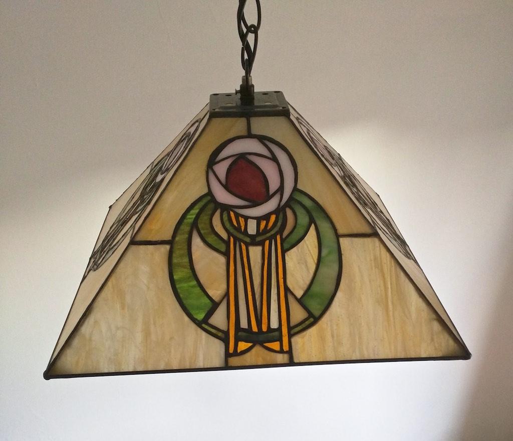 lampada a sospensione tiffany gialla