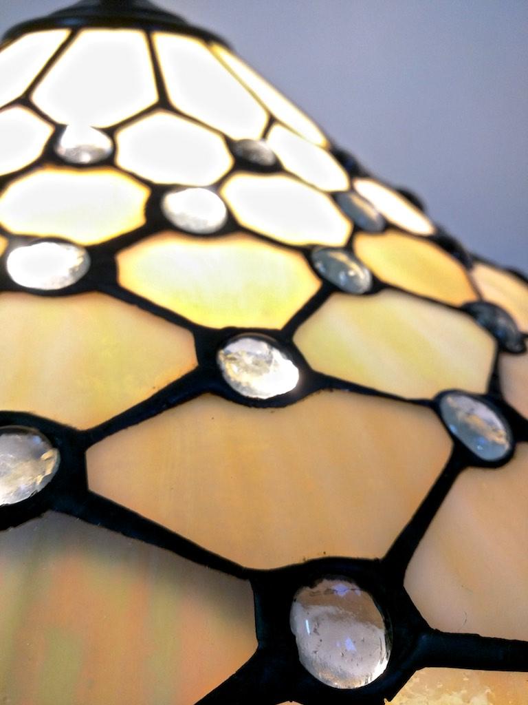 lampada tiffany da tavolo gialla