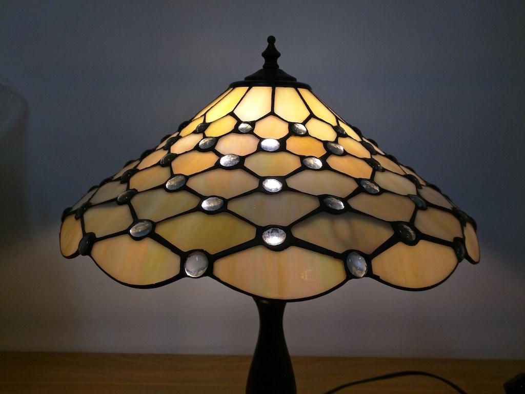 lampada tiffany da tavolo vetro favrile