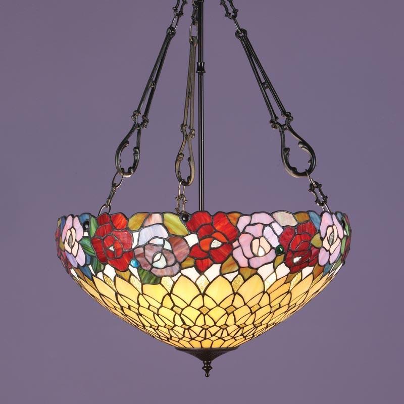 lampada-a-sospensione-tiffany-invertita-lume-verso-l-alto-con-fiori-colorati-e-sfondo-giallo