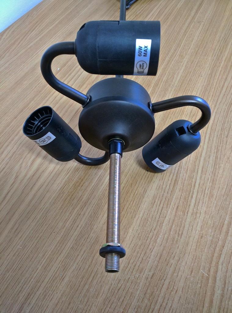 lampada tiffany sospensione con fiori fissaggio perno