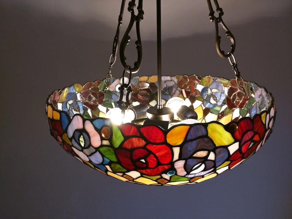 lampadine lampada tiffany a sospensione fiori