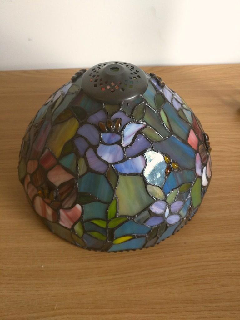 Lampada da Tavolo o Scrivania Tiffany con Fiori, colorata 10