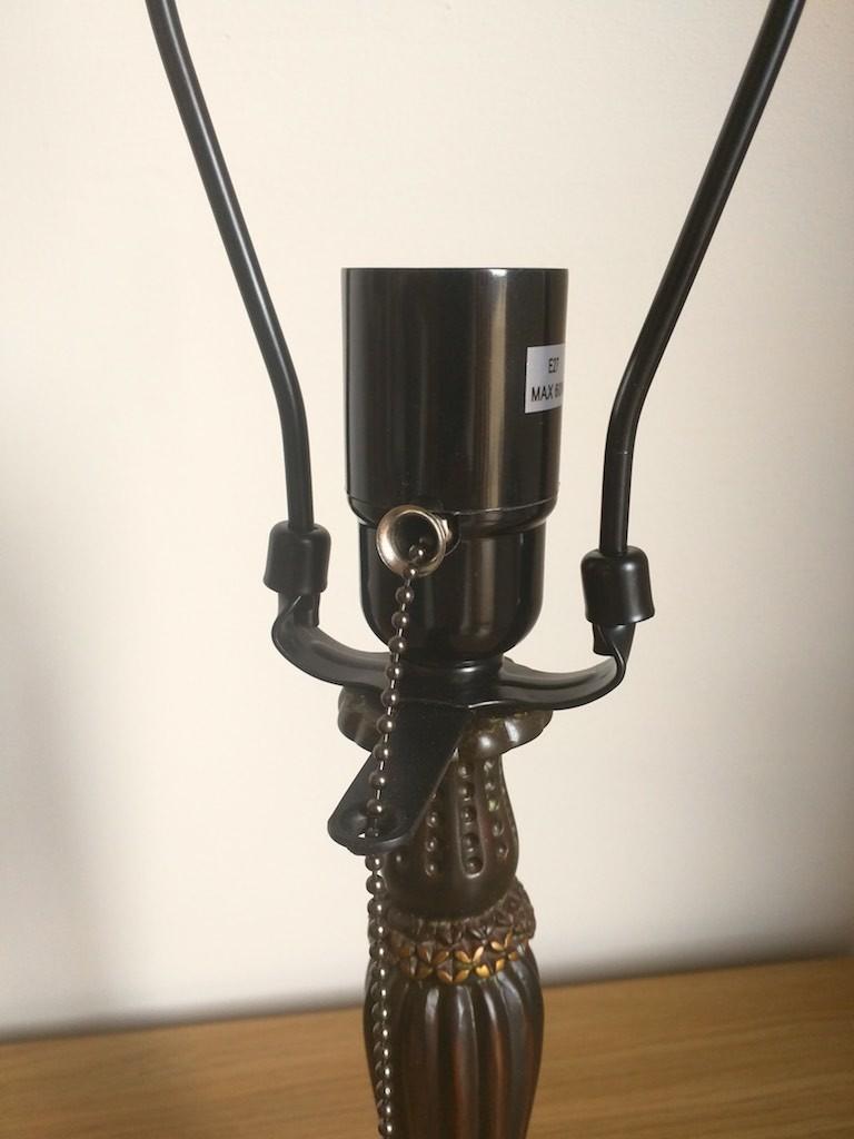 Lampada da Tavolo o Scrivania Tiffany con Fiori, colorata 3