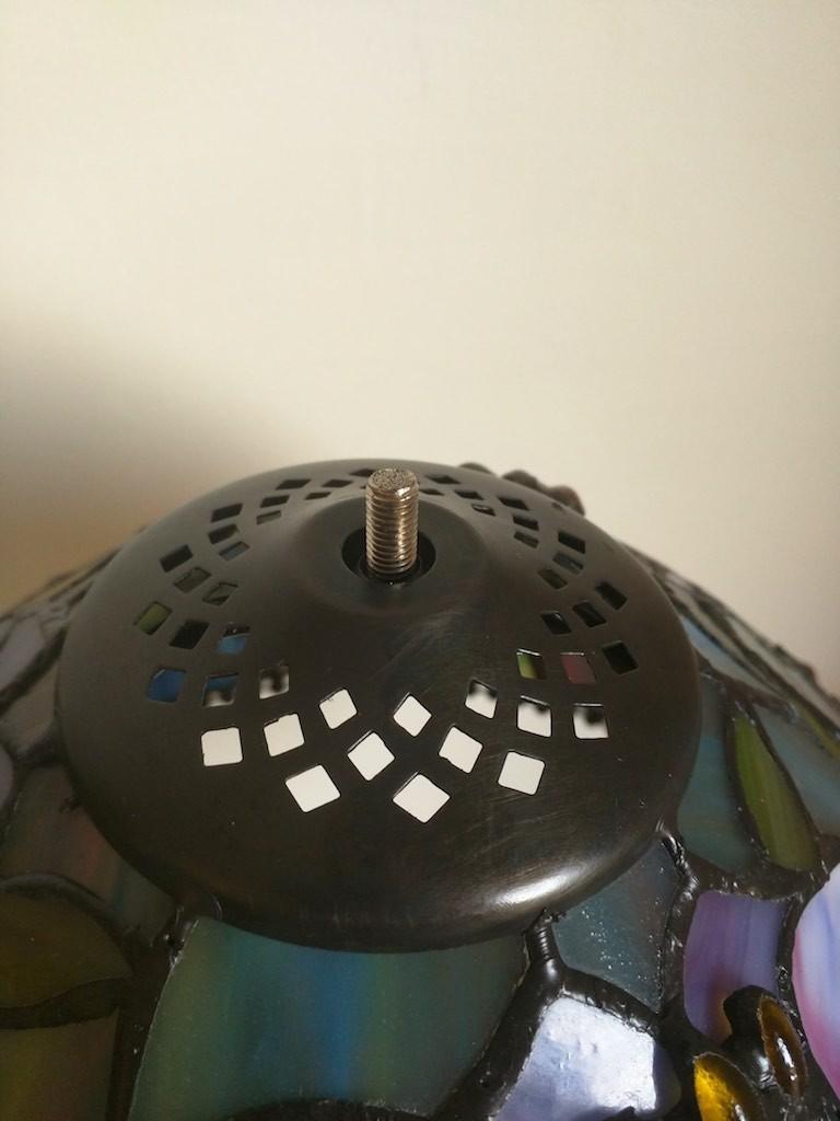 Lampada da Tavolo o Scrivania Tiffany con Fiori, colorata 6