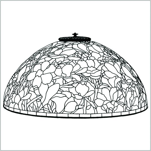 disegno lampada lume stile tiffany