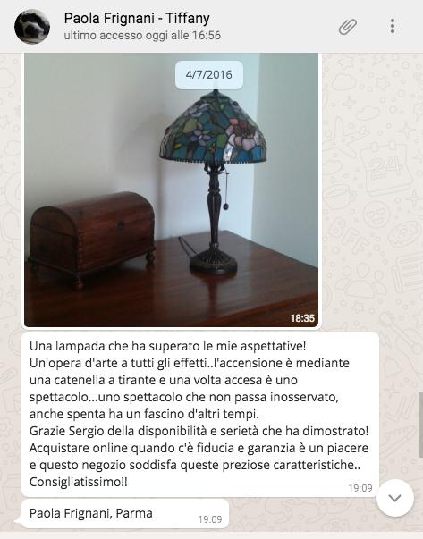 testimonianza + lampada