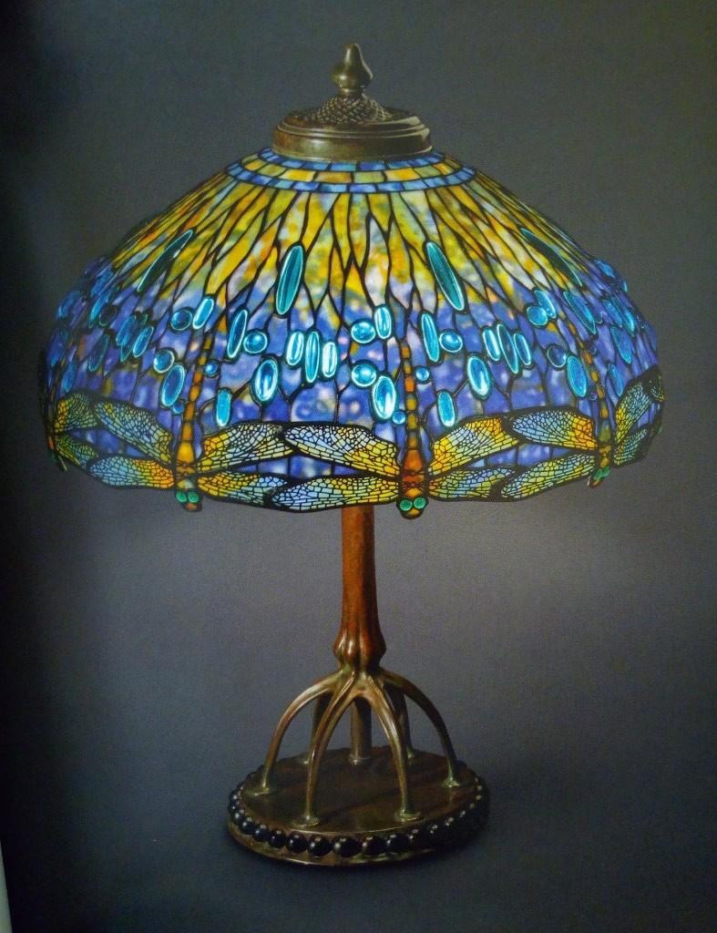 lampada tiffany originale libellule clara driscoll