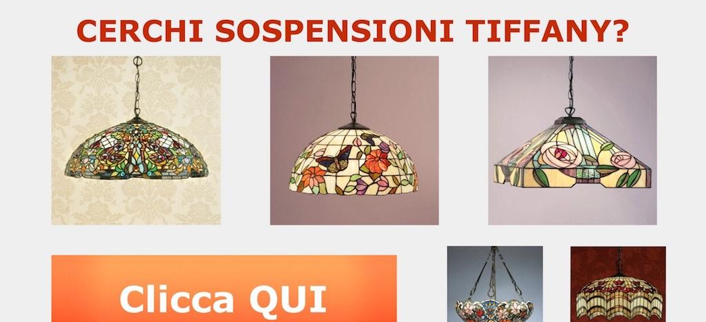 lampada tiffany a sospensione