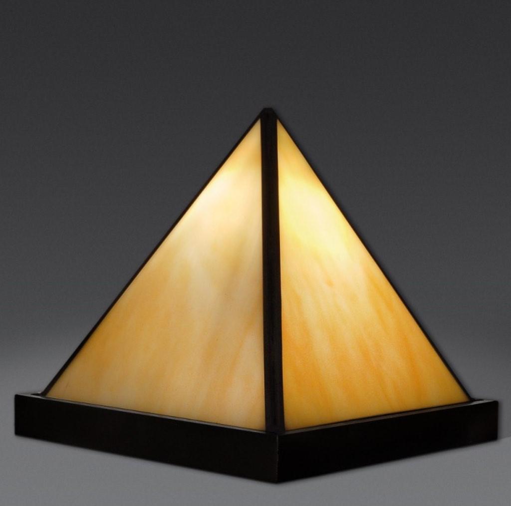 abat jour tiffany piramide