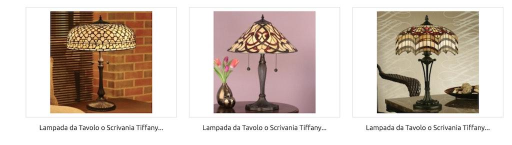 lampada Tiffany da Tavolo Grande Media
