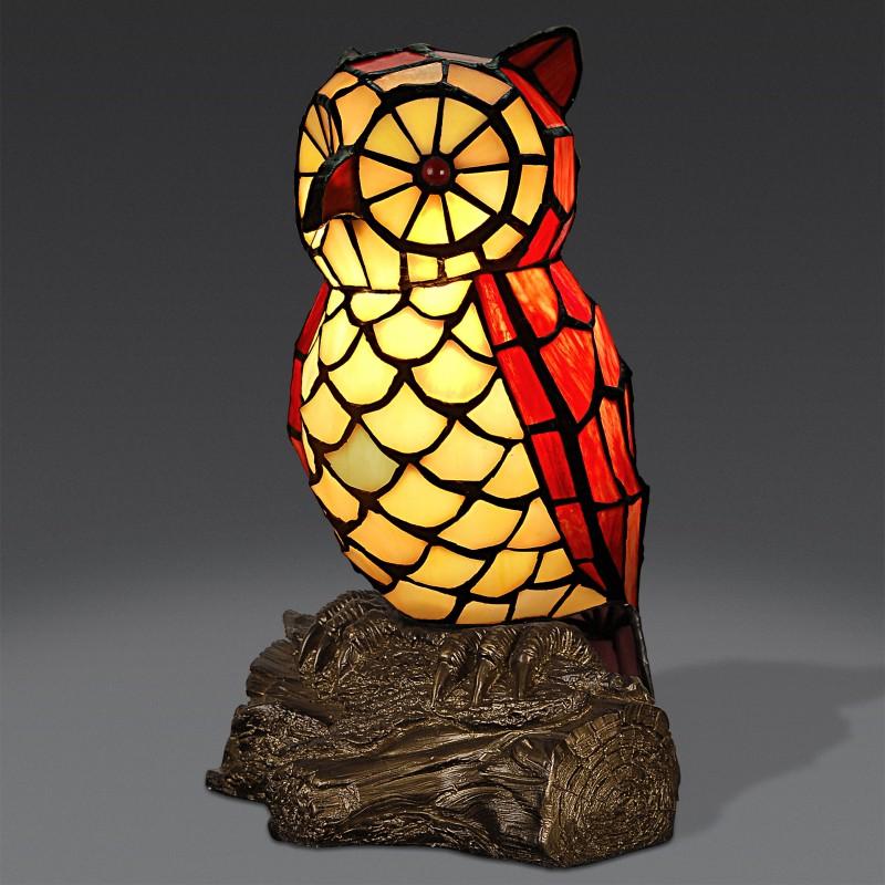 lampada tiffany a forma di gufo