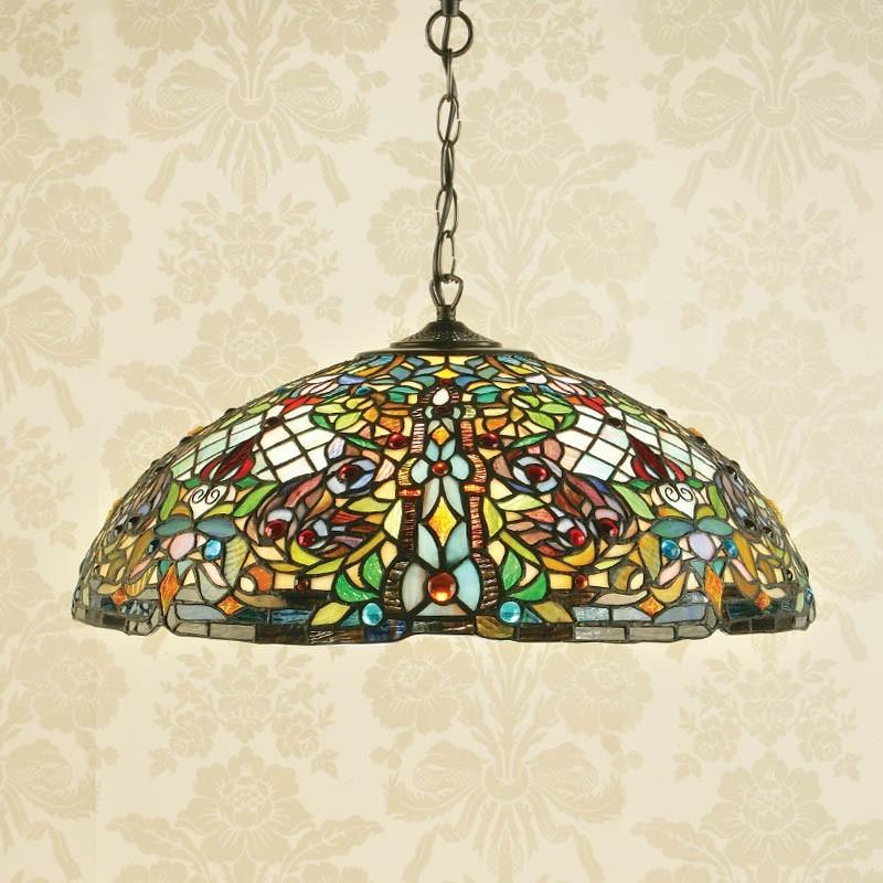 lampada a sospensione tiffany mosaico