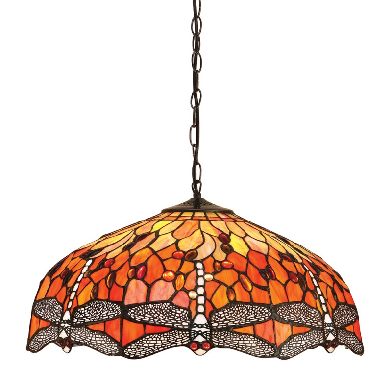 lampada a sospensione tiffany libellule