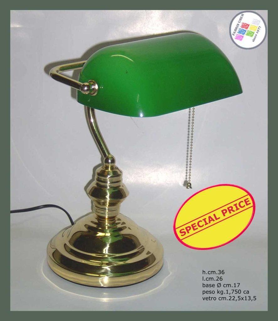 lampade da tavolo / scrivania: modello verde ottonato