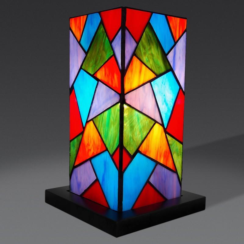 lampada da tavolo a mosaico