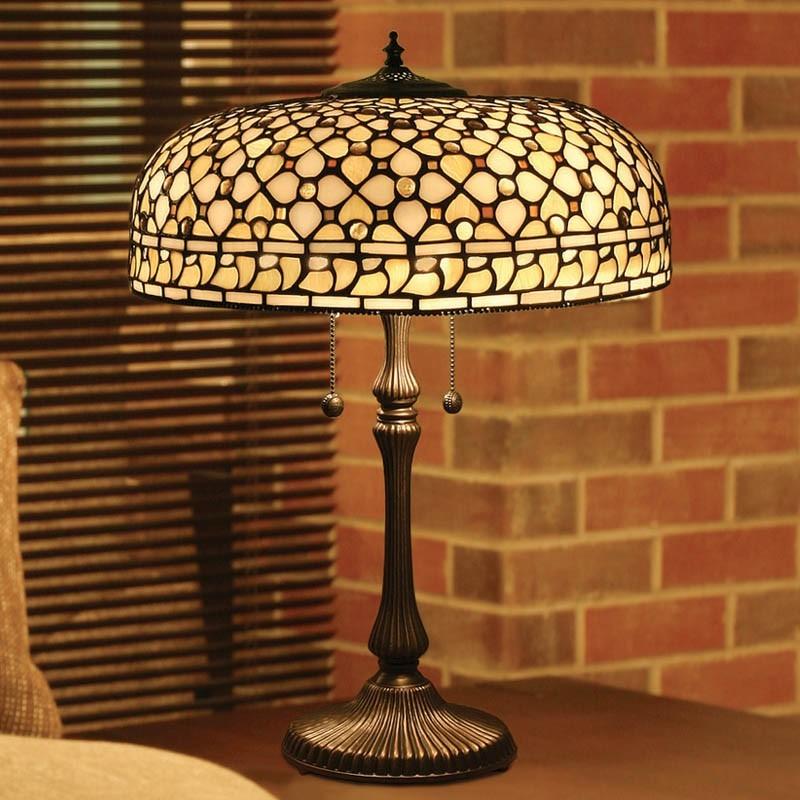 lampada da tavolo: mosaico stile tiffany