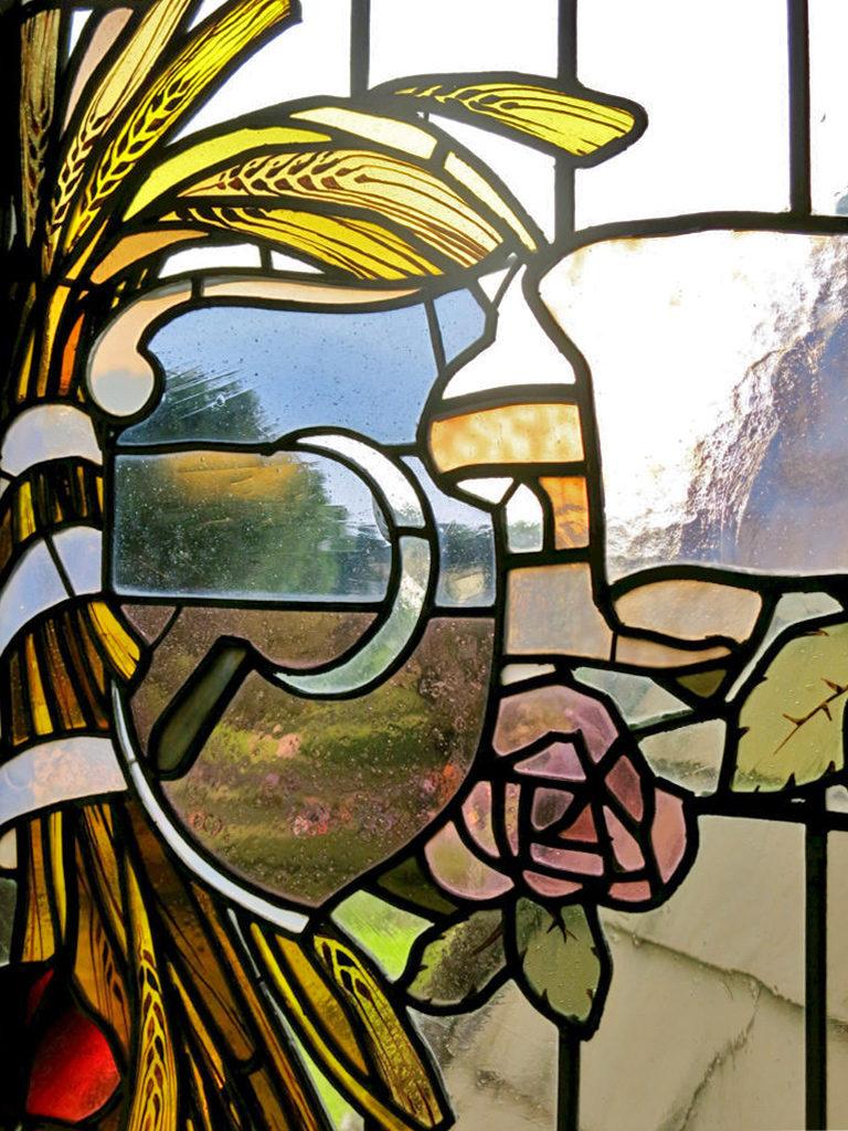 vetrata nella casina delle civette