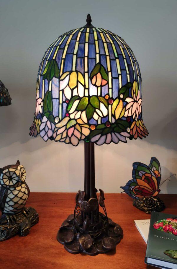 Lampada da Tavolo Stile Tiffany Lotus 1