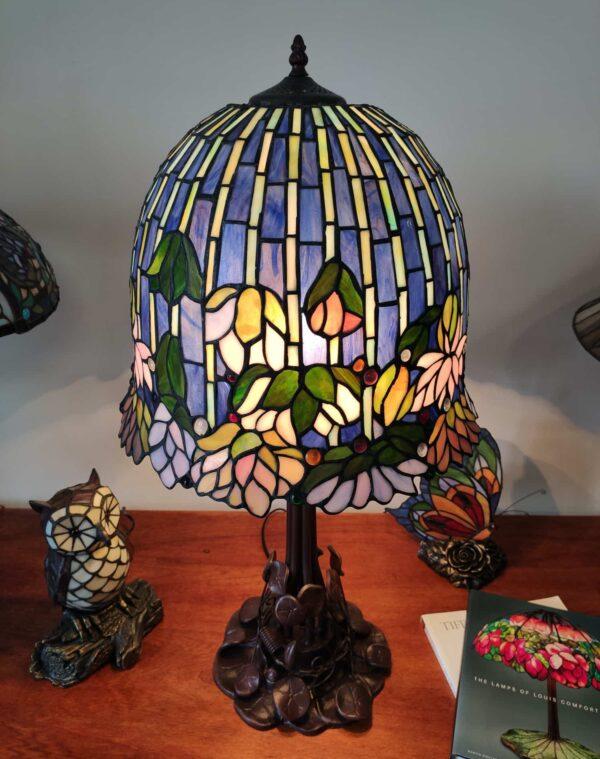 Lampada da Tavolo Stile Tiffany Lotus 5