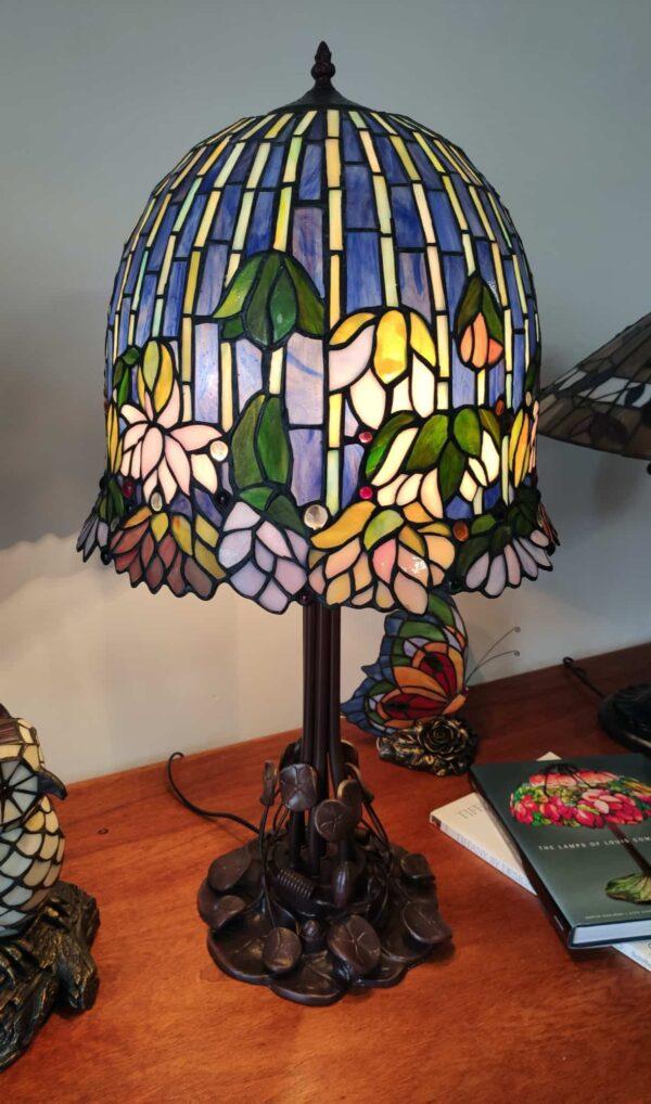 Lampada da Tavolo Stile Tiffany Lotus 3