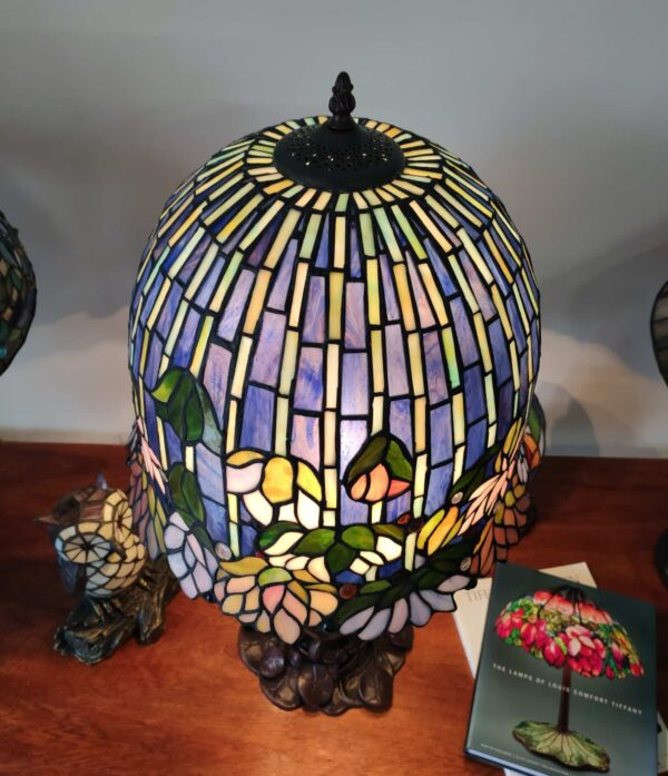 Lampada da Tavolo Stile Tiffany Lotus 6
