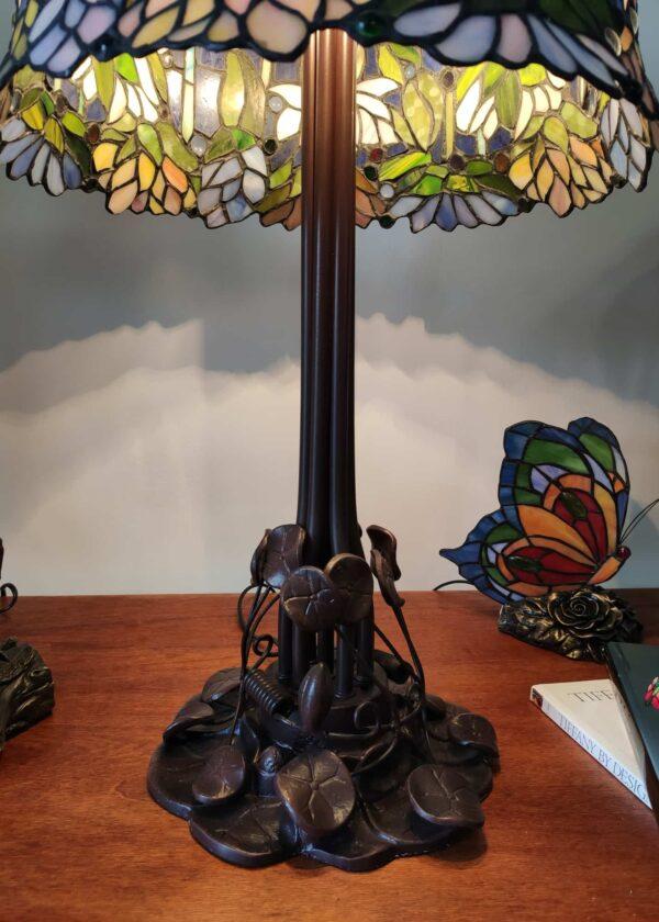 Lampada da Tavolo Stile Tiffany Lotus 7