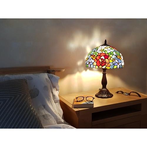 Lampada da Tavolo Tiffany con Fiori 1