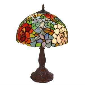 Lampada da Tavolo Tiffany con Fiori