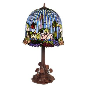 lampada da tavolo stile tiffany lotus