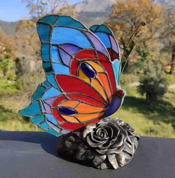 lampada tiffany farfalla 5
