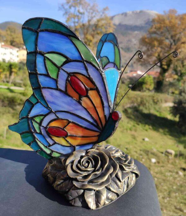 lampada tiffany farfalla AM60080BA 1