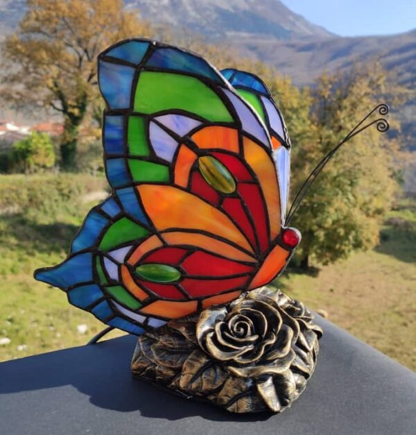 lampada tiffany farfalla 1