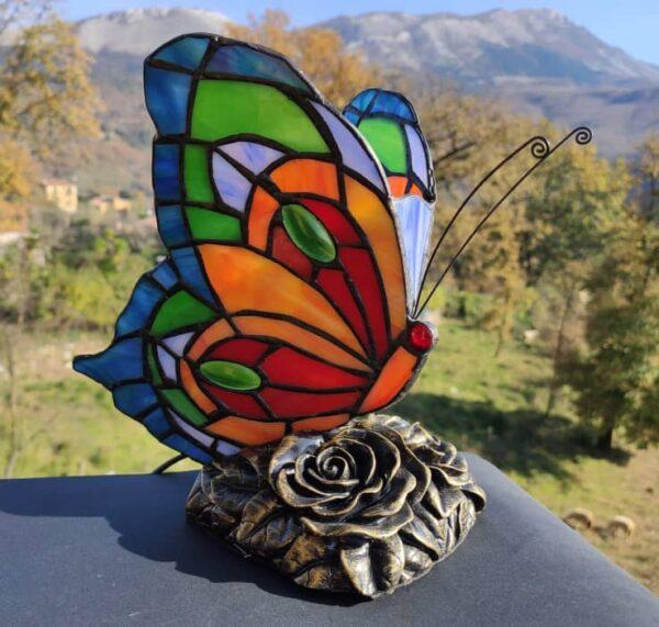 lampada tiffany farfalla AM02080BA