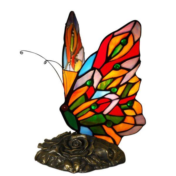 lampada tiffany farfalla arcobaleno