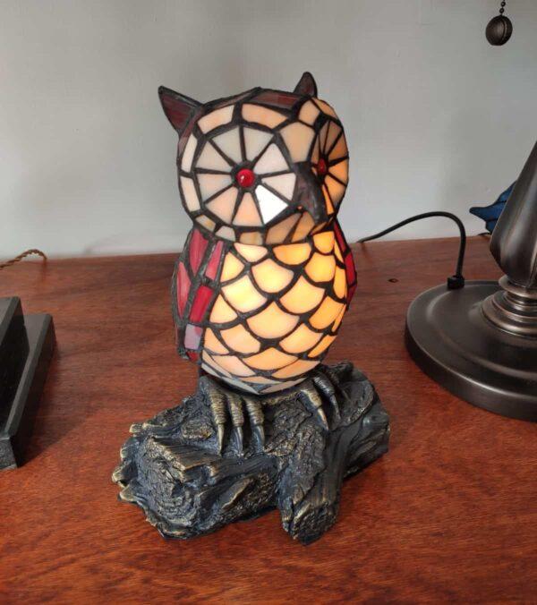 lampada tiffany gufo 11