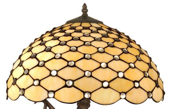 Lampada da Tavolo Tiffany con Scultura dettagli