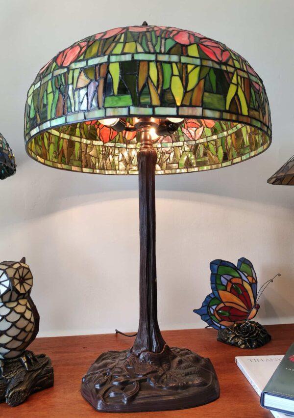 Lampada da Tavolo Tiffany con Tulipani 13