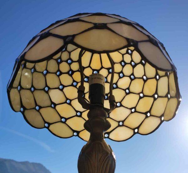 lampada da comodino tiffany gialla 2