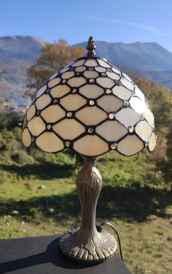 lampada da comodino tiffany gialla 4