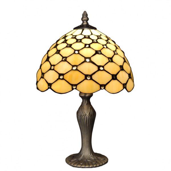 lampada da comodino tiffany gialla