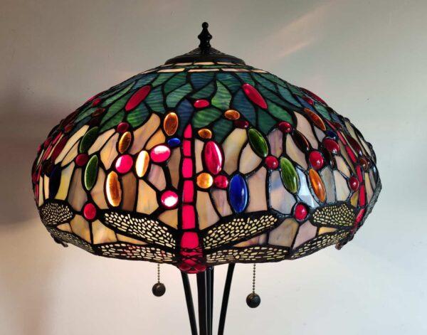lampada da tavolo tiffany con libellule 2
