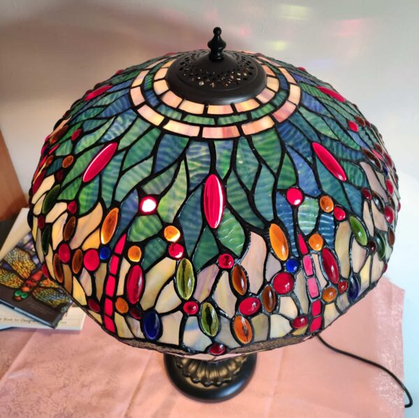 lampada da tavolo tiffany con libellule 6