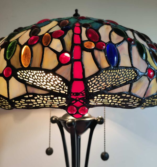 lampada da tavolo tiffany con libellule 7