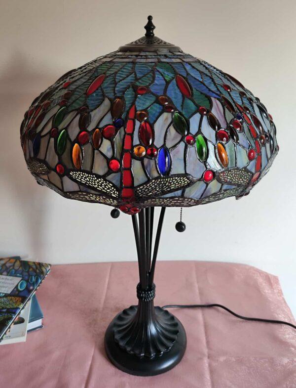 lampada da tavolo tiffany con libellule 9