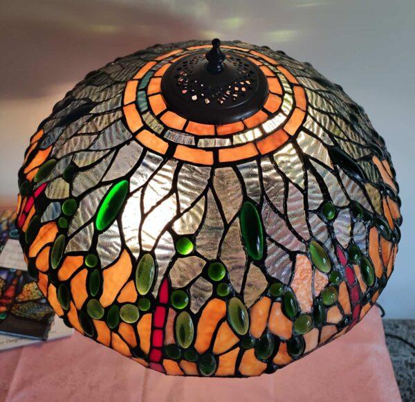 lampada tiffany da tavolo con libellule 2