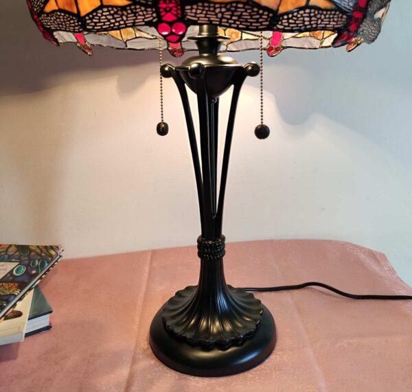 lampada tiffany da tavolo con libellule 4