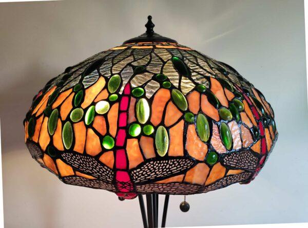 lampada tiffany da tavolo con libellule 3